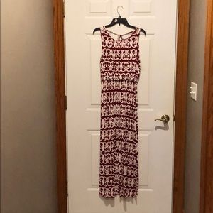 Loft size medium maxi dress. Burgundy/deep red